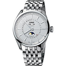 Buy Oris 0191576434051MB Culture Artix Complication Men's Bracelet Watch, Silver Online at johnlewis.com