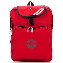 Buy Bilingue/Bilingual Stream of L'Ecole Marie D'Orliac & Holy Cross School Unisex Backpack, Red Online at johnlewis.com