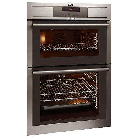 Buy AEG DC7003000M Double Electric Oven, Stainless Steel Online at johnlewis.com