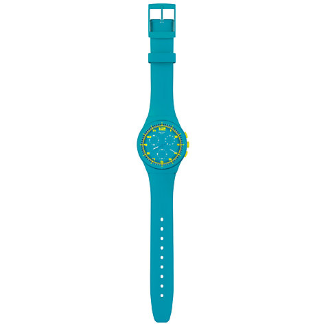 Buy Swatch Watch Unisex Chronograph Plastic Strap Watch Online at johnlewis.com