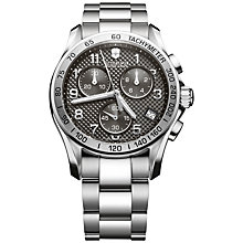 Buy Victorinox 241405 Men's Chrono Classic Chronograph Bracelet Strap Watch, Silver/Black Online at johnlewis.com