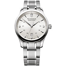 Buy Victorinox 241476 Men's Alliance Bracelet Strap Watch, Silver Online at johnlewis.com