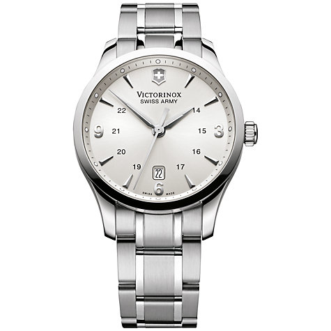 Buy Victorinox 241476 Men's Alliance Bracelet Watch, Silver Online at johnlewis.com