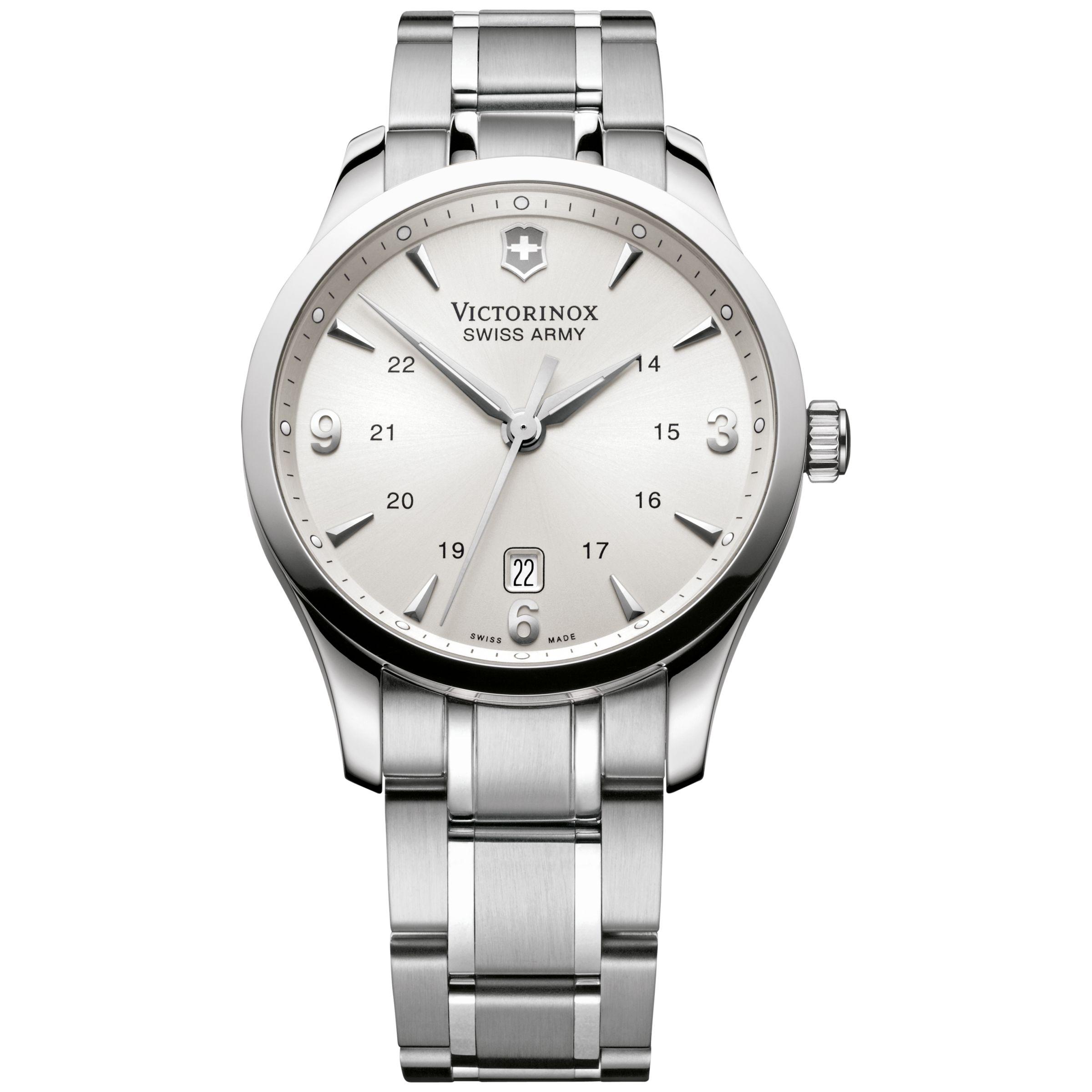 Victorinox Victorinox 241476 Men's Alliance Bracelet Strap Watch, Silver