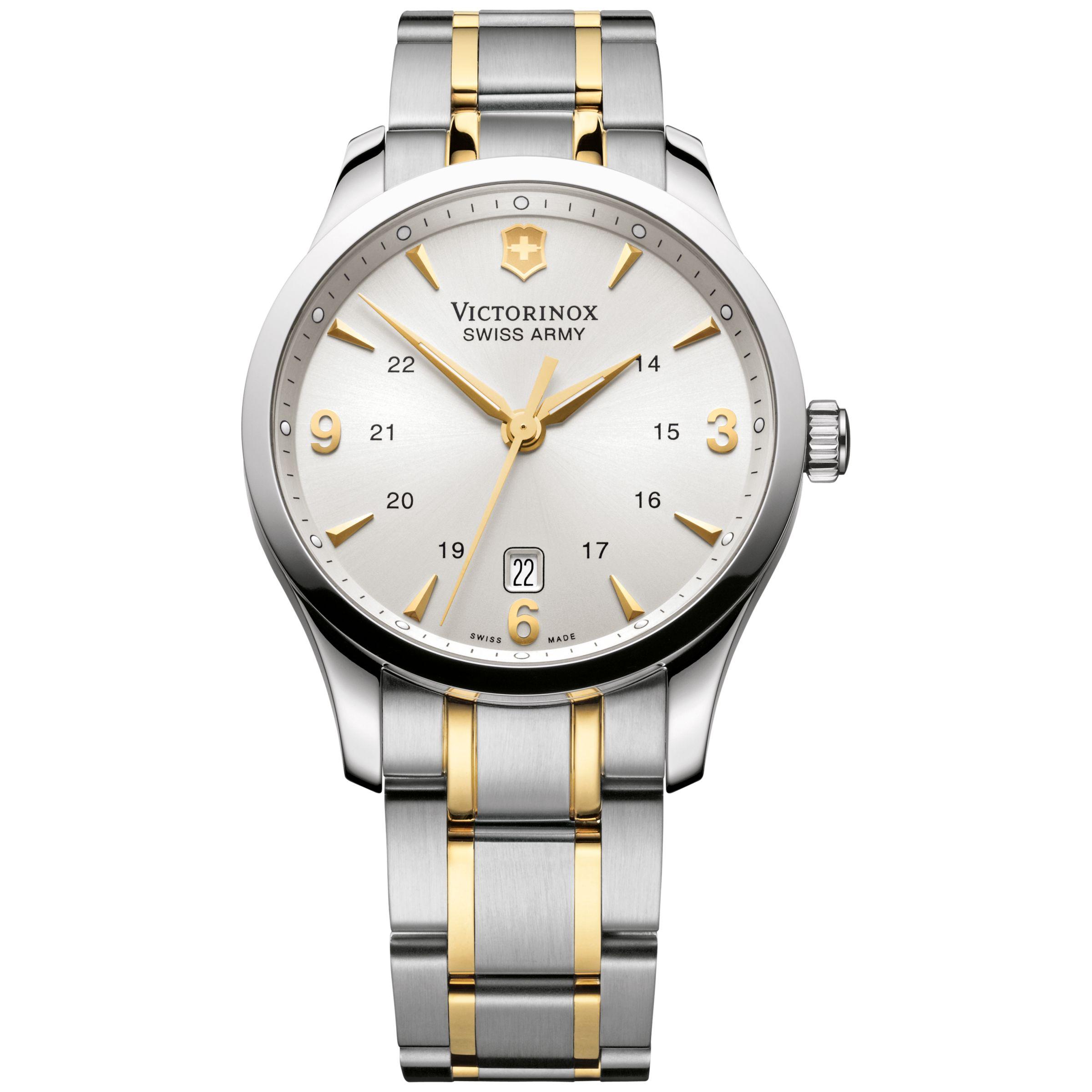 Victorinox Victorinox 241477 Men's Alliance Two Tone Bracelet Strap Watch, Silver/Gold