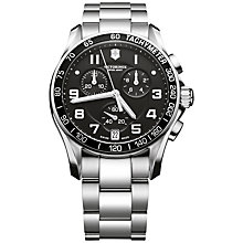 Buy Victorinox Men's Chrono Classic Bracelet Strap Watch Online at johnlewis.com