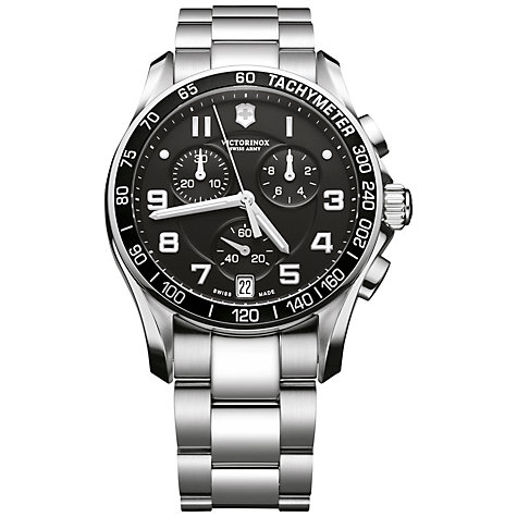 Buy Victorinox Men's Chrono Classic Bracelet Watch Online at johnlewis.com