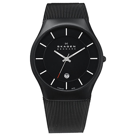 Buy Skagen Men's Mesh Bracelet Watch Online at johnlewis.com