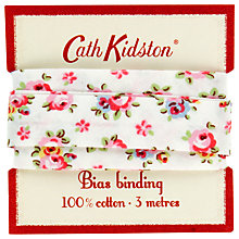 Buy Cath Kidston Hampton Rose Bias Binding, White Online at johnlewis.com