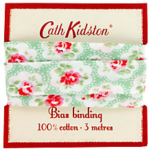 Buy Cath Kidston Hampton Rose Bias Binding, Green Online at johnlewis.com