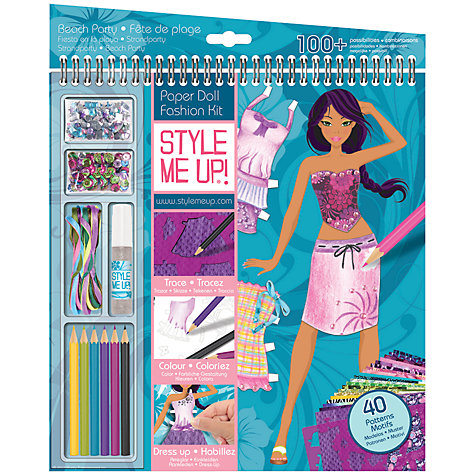 Buy Style Me Up Giant Sketchbook, Beach Party Online at johnlewis.com