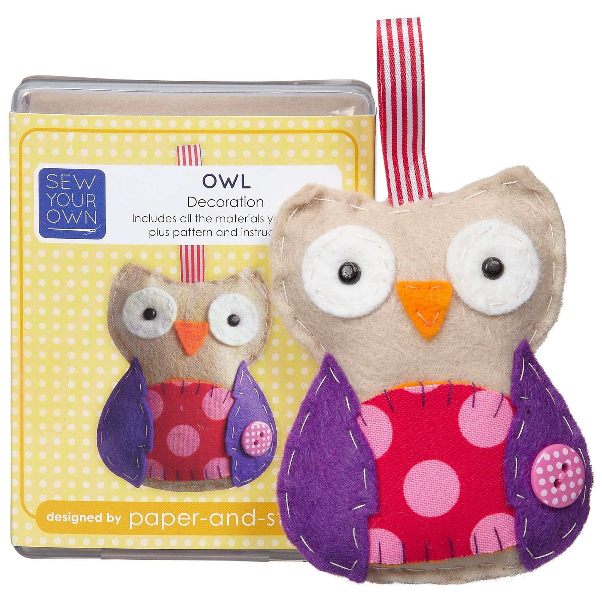 Paper and String Sew Your Own Mini Owl Kit