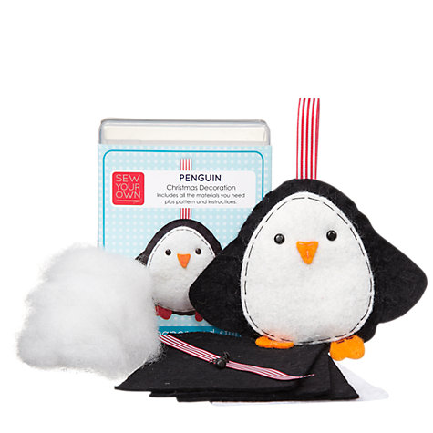 Buy Sew Your Own Christmas Decoration Kit, Penguin Online at johnlewis.com