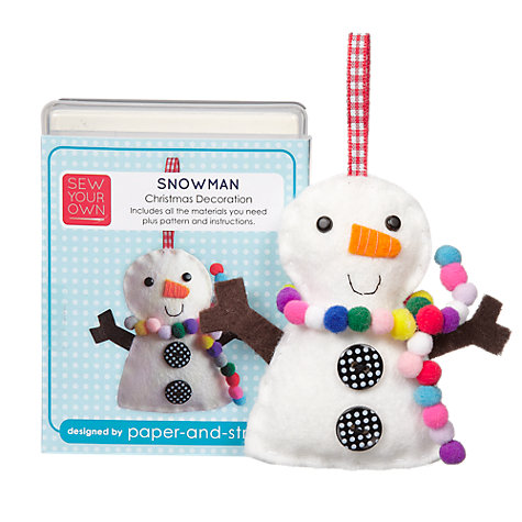 Buy Sew Your Own Christmas Decoration Kit, Snowman Online at johnlewis.com