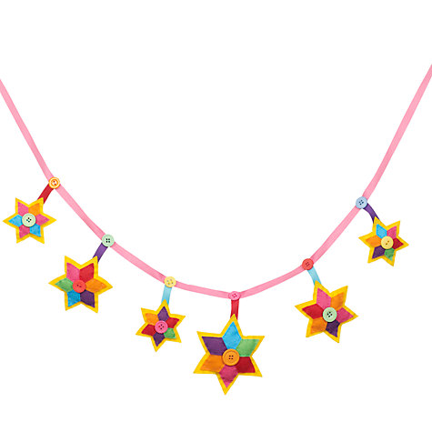 Buy Paper and String Sew Your Own Star Garland Online at johnlewis.com