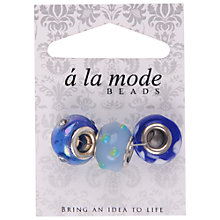 Buy Groves A La Mode Floral Glass Beads, Pack of 3 Online at johnlewis.com