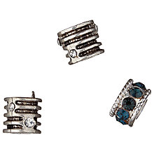 Buy Grove A La Mode Metal Diamante Beads, Pack of 3, Multi Online at johnlewis.com