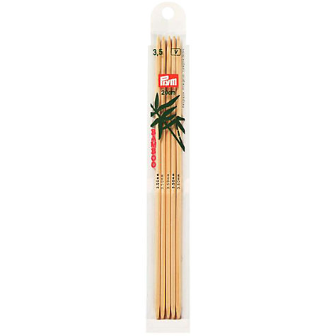 Buy Prym 20cm Bamboo Double Point Knitting Needles, Pack of 5, Assorted Widths Online at johnlewis.com