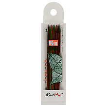 Buy Knit Pro 10cm Double Pointed Wooden Knitting Needles, Pack of 5, Assorted Widths Online at johnlewis.com