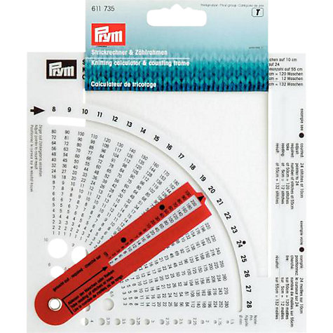 Buy Prym Knitting Calculator Online at johnlewis.com