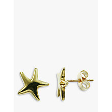 Buy Nina Breddal 9ct Yellow Gold Starfish Stud Earrings, Gold Online at johnlewis.com