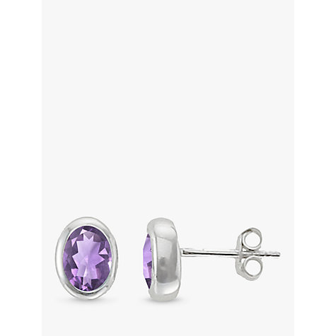 Buy Nina B Oval Stud Earrings Online at johnlewis.com