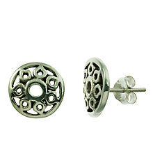 Buy Nina Breddal Amity Chakra Stud Earrings, Silver Online at johnlewis.com