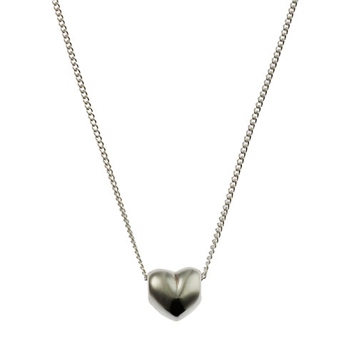 Buy Nina Breddal Tiny Solid Silver Heart Pendant Necklace, Silver Online at johnlewis.com