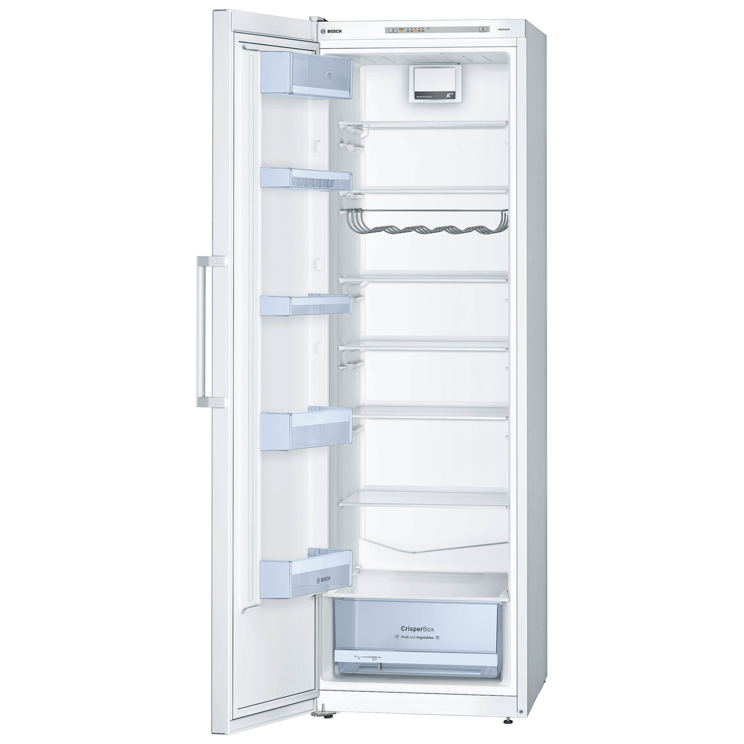 Bosch KSV36VW30G Tall Larder Fridge, A++ Energy Rating, 60cm Wide, White