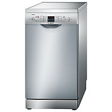 Buy Bosch Exxcel SPS53E18GB Slimline Dishwasher, Stainless Steel Online at johnlewis.com