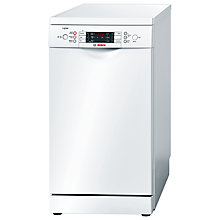 Buy Bosch Logixx SPS59L12GB Slimline Dishwasher, White Online at johnlewis.com