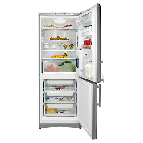 Buy Indesit BAAN40FNFSWD Fridge Freezer, A+ Rated, 70cm Wide, Silver Online at johnlewis.com
