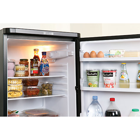 Buy Indesit CAA55K Fridge Freezer, A+ Rated, 54.5cm Wide, Black Online at johnlewis.com