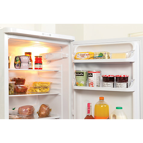 Buy Indesit NCAA55 Fridge Freezer, A+ Rated, 55cm Wide, White Online at johnlewis.com
