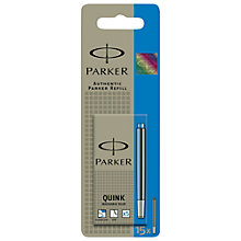 Buy Parker Pen Ink Cartridges, Blue, Pack of 15 Online at johnlewis.com