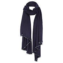 Buy Coast Theresa Tassel Wrap, Navy Online at johnlewis.com