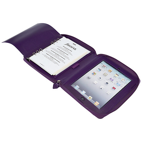 Buy Filofax Pennybridge A5 Organiser and iPad Case, Purple Online at johnlewis.com