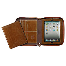 Buy Filofax Malden A5 Zipped Folio, Brown Online at johnlewis.com