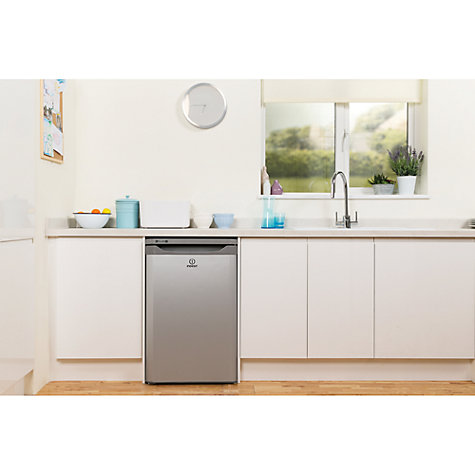 Buy Indesit TLAA10S Larder Fridge, A+ Energy Rating, 55cm Wide, Silver Online at johnlewis.com