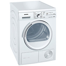 Buy Siemens WT46W380GB Condenser Tumble Dryer, 7kg Load, A Energy Rating, White Online at johnlewis.com