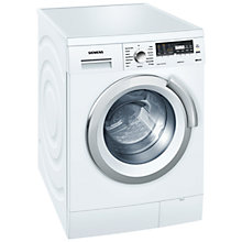Buy Siemens WM16S496GB Washing Machine, 8kg load, A+++ Energy Rating, 1600rpm Spin, White Online at johnlewis.com