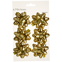 Buy John Lewis Mini Bows, Gold, Set of 6 Online at johnlewis.com
