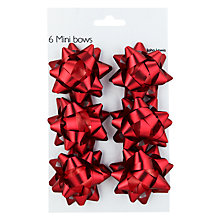 Buy John Lewis Mini Bows, Red, Set of 6 Online at johnlewis.com