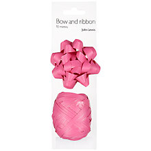 Buy John Lewis Gift Bow and Curling Ribbon Set, Fuchsia Online at johnlewis.com