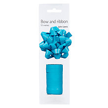 Buy John Lewis Gift Bow and Curling Ribbon Set, Turquoise Online at johnlewis.com