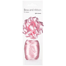 Buy John Lewis Gift Bow and Curling Ribbon Set, Baby Pink Online at johnlewis.com