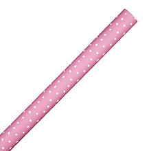 Buy John Lewis Mother's Day Spot Wrapping Paper, Pink, L3m Online at johnlewis.com