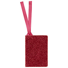 Buy John Lewis Glitter Tag, Pink Online at johnlewis.com