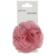 Buy John Lewis Tapestry Gift Bow, Pink Online at johnlewis.com