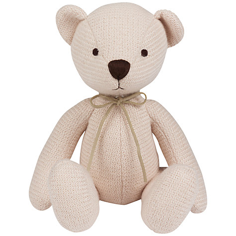 Buy Silver Cross Timble Knitted Bear, Cream Online at johnlewis.com